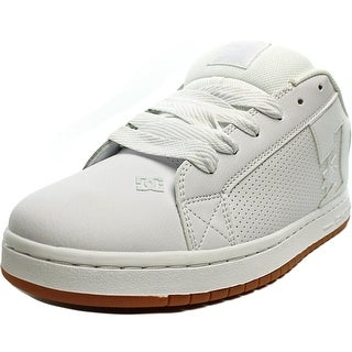 DC Shoes Court Graffik Men  Round Toe Leather White Skate Shoe
