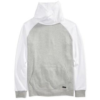 Univibe NEW Gray Mens Size XL Colorblock Funnel-Neck Fleece Sweater