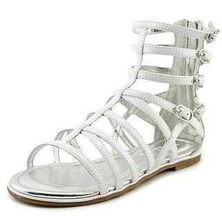 Nina Kids Octavia Open Toe Patent Leather Gladiator Sandal