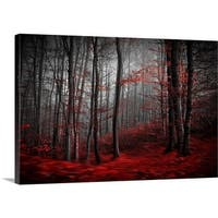 Premium Thick-Wrap Canvas entitled Bloody River - Multi-color