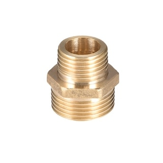 "Brass Pipe Fitting Reducing Hex Nipple 1/2""x 3/4"" G Male Pipe Brass Fitting - 1/2"" to 3/4"" G Male"