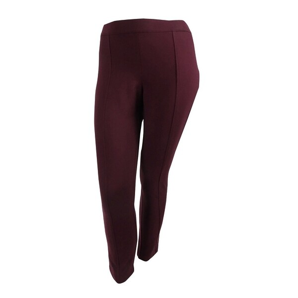 98cd55176759b Shop Anne Klein Women's Seamed Pull-On Ponte Pants - troubadour red - Free  Shipping On Orders Over $45 - Overstock - 19770365