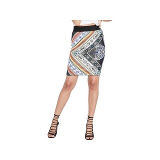 Rachel Rachel Roy Womens Pencil Skirt Jacquard Printed