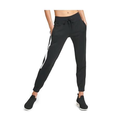DKNY Women's Sport Colorblocked Joggers, Black, S