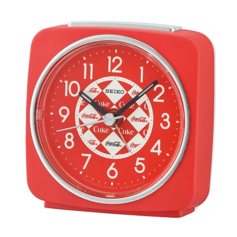 Seiko Instruments Coca-Cola Alarm Clock - Red Analog Timepiece, Battery Operated