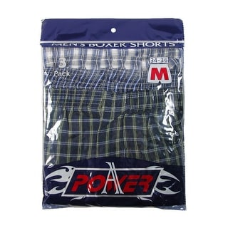 CTM® Men's Madras Plaid Boxer Shorts Underwear (Pack of 3)