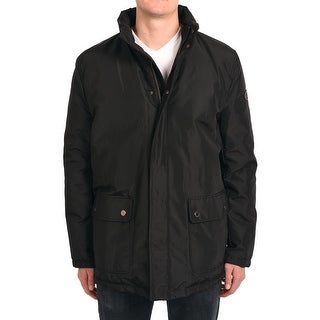 Valentino Men Hooded Parka Jacket Black