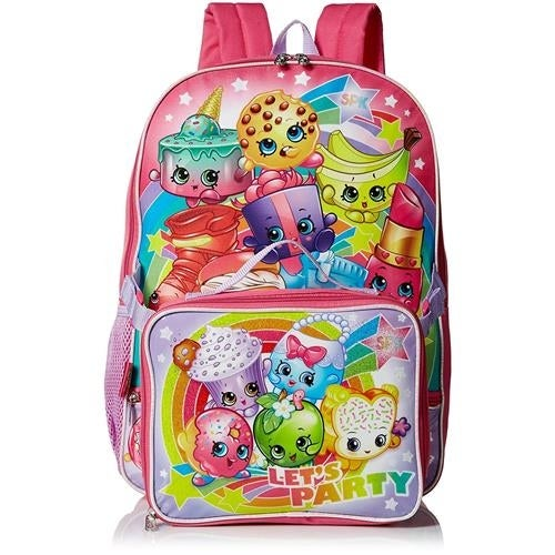 21aa6bd0626 Shop Shopkins Girls Backpack Lunch Bag Set - Ships To Canada ...