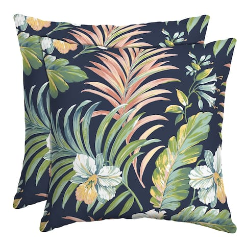 Arden Selections Simone Tropical Outdoor Throw Pillow, 2 pack - 16 in L x 16 in W x 5 in H