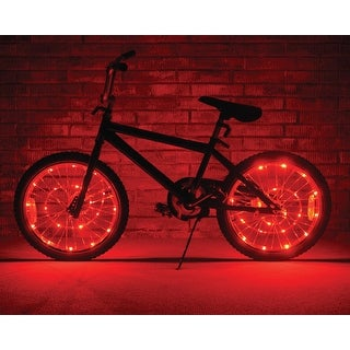 Wheel Brightz Lightweight LED Bicycle Safety Light Accessory Red