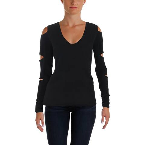 Aqua Womens V-Neck Sweater Cashmere V-Neck