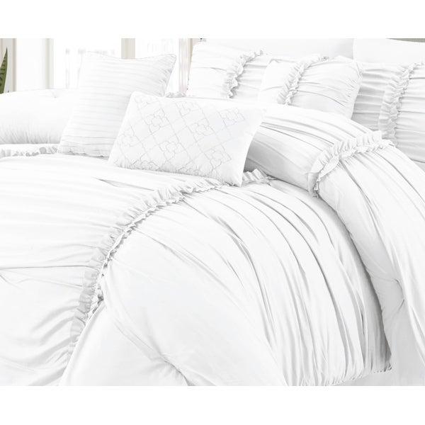 Luxury Ultra Soft Goose Down Alternative Solid Comforter Set