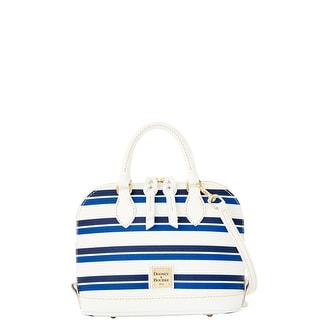 Dooney & Bourke Stonington Bitsy Bag (Introduced by Dooney & Bourke at $178 in Jan 2016) - blue navy white
