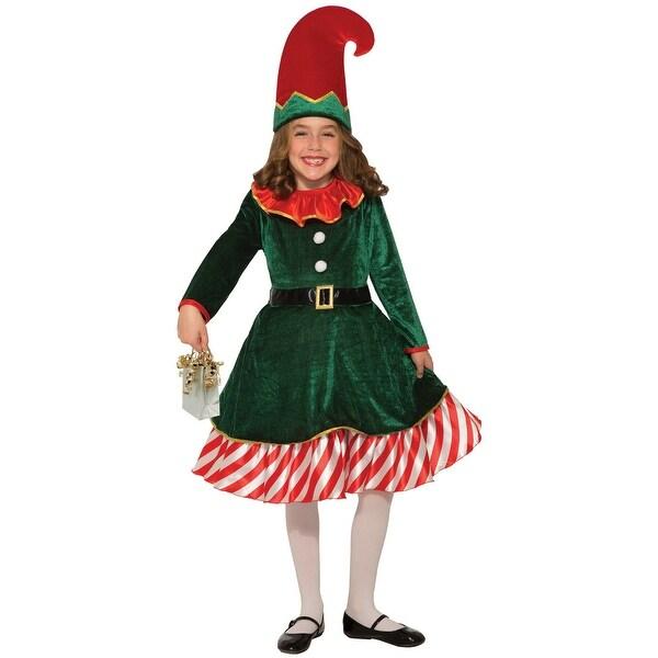 8dfa613280f5a Forum Novelties Santa's Li'l Elf Child Costume (Medium) - Green/Red - Medium