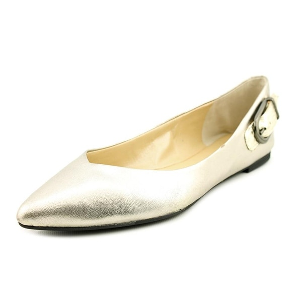 Marc Fisher Manette Women  Pointed Toe Leather Silver Flats
