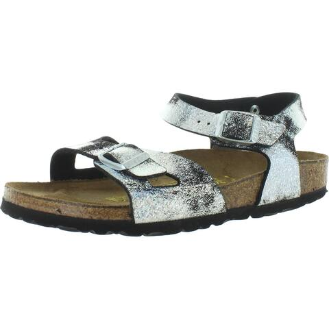 Birkenstock Girls Rio Footbed Sandals Birko-Flor Strappy