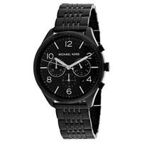 cc90ce31f26b Shop Michael Kors Men s MK8455 JetMaster Chronograph Black Dial ...