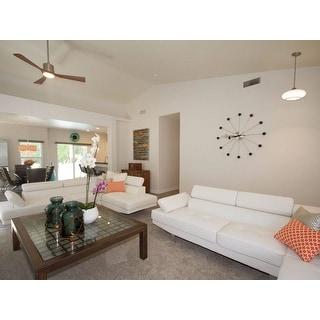 Orange/White Trellis Indoor/Outdoor 13X18 Inch Throw Pillow