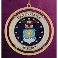 "ChemArt 2.5"" Collectible Keepsakes United States Air Force Christmas Ornament - GOLD"