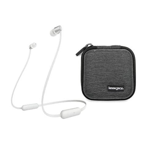 Sony WI-C310 Wireless in-Ear Headphones, White (WIC310/W) bundle