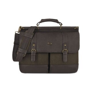 Solo Bradford Briefcase, Olive Denim-Espresso Bradford Briefcase