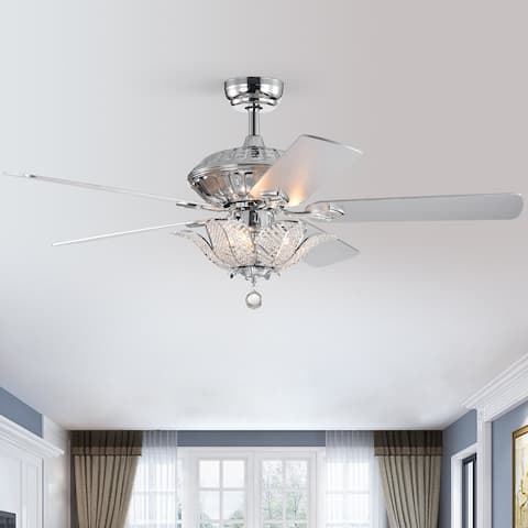 """52"""" Vega 5 - Blade Chandelier Ceiling Fan with Remote Control and Light Kit Included"""