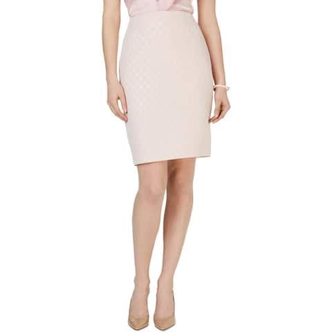 Kasper Womens Pencil Skirt Metallic Business - Tutu Pink Multi
