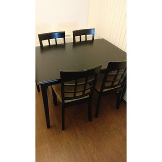 Wilmington Black Window Back 5-piece Dining Set by iNSPIRE Q Classic
