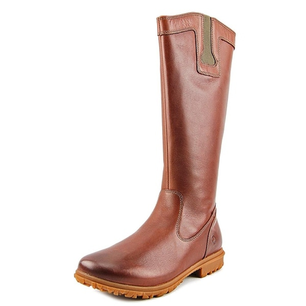 Bogs Pearl Tall Women Round Toe Leather Brown Mid Calf Boot