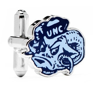 University of North Carolina Tar Heels Vintage Logo Cufflinks - Blue