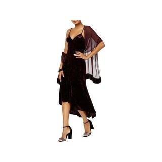 Vince Camuto Womens Slip Dress Velvet V-Neck