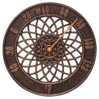 """Whitehall Spiral Indoor and Outdoor Wall Thermometer (14"""", Antique Copper) - Copper"""