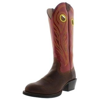 Ariat Mens Sport Buckaroo Leather Detail Stitching Cowboy, Western Boots