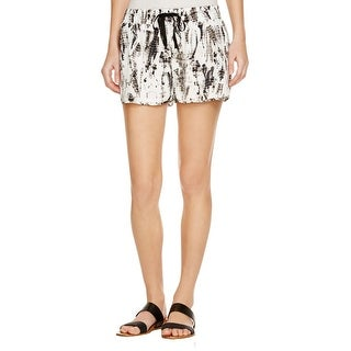 Joie Womens Cavi Layana Casual Shorts Silk Printed - L