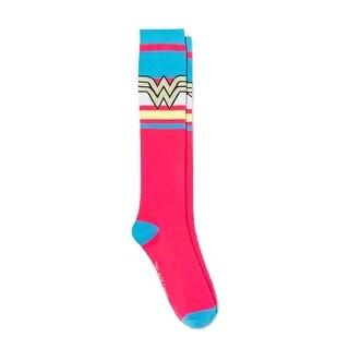 DC Comics Wonder Woman Women Knee High Casual Socks Pink 4-10