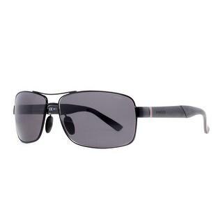 GUCCI Rectangular GG 2234/S Men's C0Y/3H Semi Matte Black Smoke Grey Sunglasses - 63mm-14mm-130mm