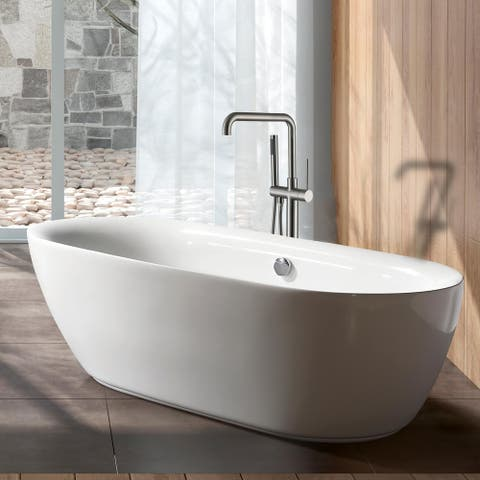 Freestanding Faucet in brushed nickel--Clihome