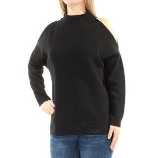 ALFANI Womens New 1366 Black Cut Out Turtle Neck Dolman Sleeve Top M B+B