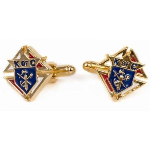Knights Of Columbus Goldtone Cufflinks