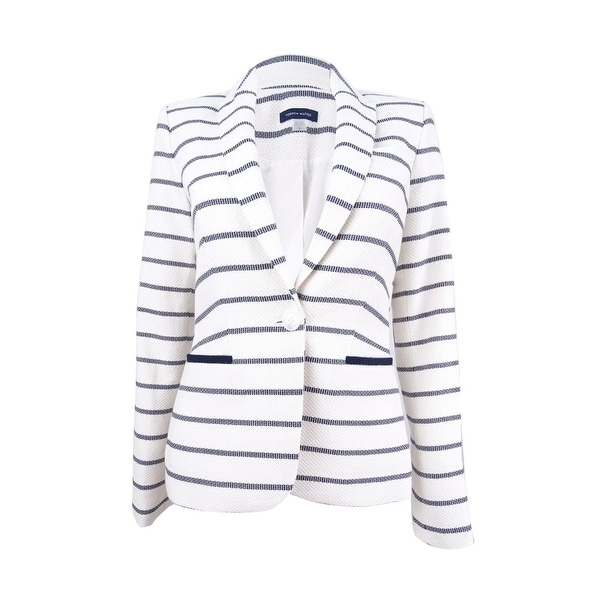 1201ba3e43955a Shop Tommy Hilfiger Women's Striped Elbow-Patch Blazer - On Sale - Free  Shipping Today - Overstock - 23029443