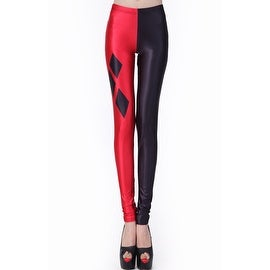 Fashion Lady Pattern Printed Harley Quinn Design Stretch Tight Leggings Skinny Pants