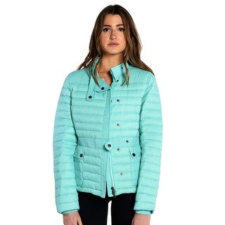 Melody Ladies Moto Lightweight Jacket in Turquoise