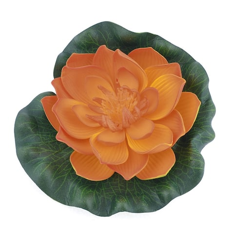Unique Bargains Aquarium Ornament Lotus Foam Floral Decor Water Plant Yellow Green
