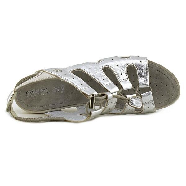 Shop Geox Sandal Vega 3 Women Open Toe Leather Silver