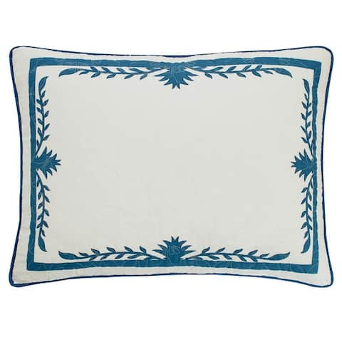 Tommy Bahama Aloha Pineapple Blue Quilt and Coordinating Sham Separates