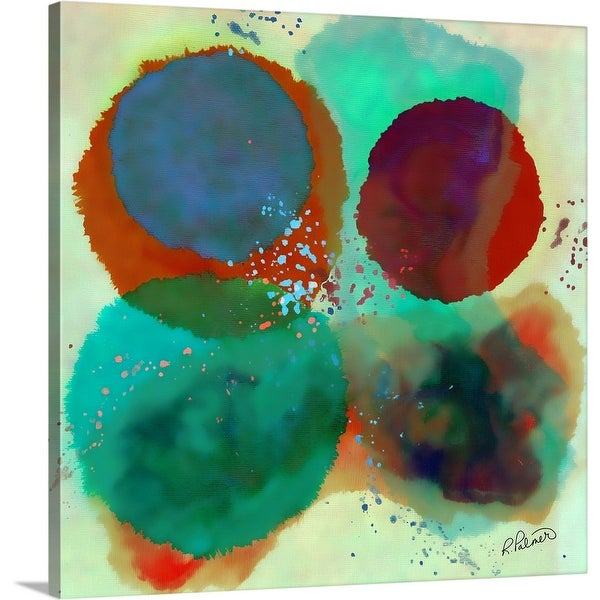 """Blurred Circles"" Canvas Wall Art"