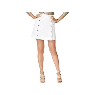 MICHAEL Michael Kors Womens Mini Skirt Twill Embellished