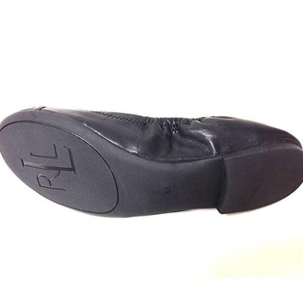 Shop Ralph on Lauren Betsy Women's Slip on Ralph Shoes Black Nappa Shoes, Black, Size 8.0 - - 23069953 f5284f