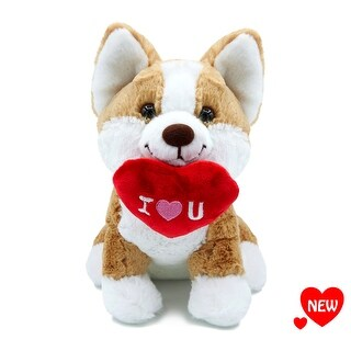 "Aurora - I Love You Corgi 9"" High Quality Plush"