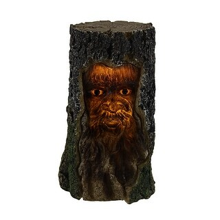 Tree Man Forest Spirit of Wisdom Decorative Accent Lamp Night Light - brown